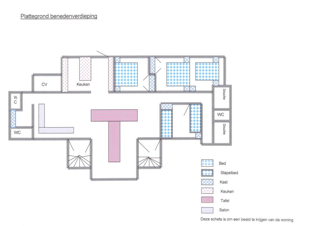 Overzicht indeling gelijkvloers